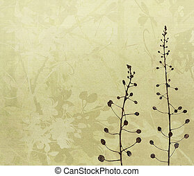 Flower Art Digital Painting Background in Shades of Brown