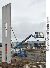 Wall panel and lift - New building constructed, one panel...