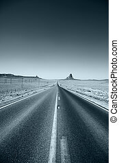 Road leading to the horizon - Highway leading to the...