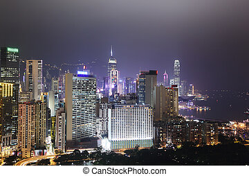 Hong Kong skyline - Hong Kong cityscape at night