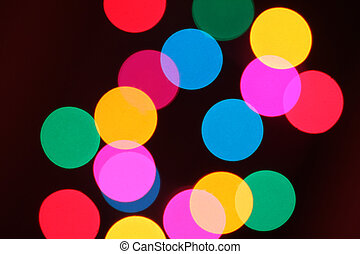 Abstract background of colorful bokeh circles
