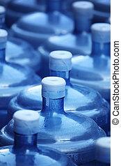 grande, água, garrafas
