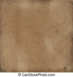 Grunge rusty vintage background with floral ornament