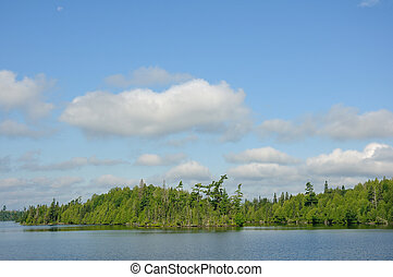 Remote Wilderness Lake - Scenic Remote Wilderness Lake in...