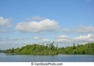 Remote Wilderness Lake - Scenic Remote Wilderness Lake in...