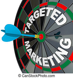Dart and Dartboard Targeted Marketing Successful Campaign -...