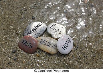 meditation rocks in the water