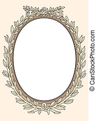 vintage photo frame ornamental vector in seventeenth-century...