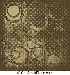 Abstract brown background with circles. Creative wallpaper