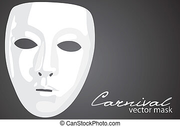 Carnival mask on dark background