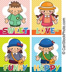 cartoon kid card