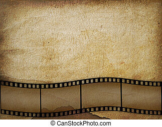Old paper in grunge style with  filmstrip