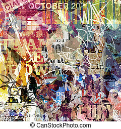 Grunge Background - A Grunge Background with Old Torn...
