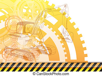construction background with the loader