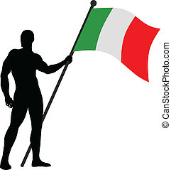 Flag Bearer - Vector illustration of a flag bearer
