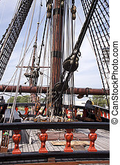 Reconstruction of the VOC ship The Batavia - Deck of the VOC...
