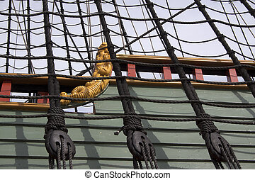 Reconstruction of the VOC ship The Batavia - rigging of the...