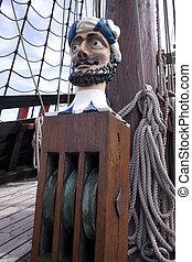 Reconstruction of the VOC ship The Batavia - Mast and...