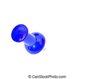 Push pin on white - Close up Push pin on white