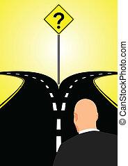 Bifurcado, estrada