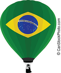 Air Balloon, Brazilian Flag