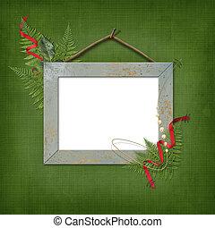 quadro, madeira, foto, Quadro, Flâmula, ou, grupo