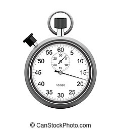 Stopwatch - stopwatch isolated on white background