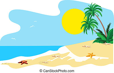 Tropical island - Landscape of a coast of tropical island...