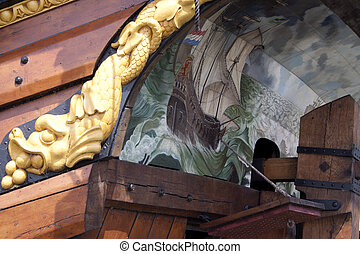 Reconstruction of the VOC ship The Batavia - Stern of the...
