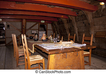 Reconstruction of the VOC ship The Batavia - Captains hut of...