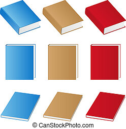Vector books - Set of vector books on white background