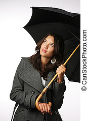 Female with umbrella