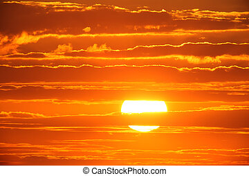 Sunset - Scenic orange sunset sky background
