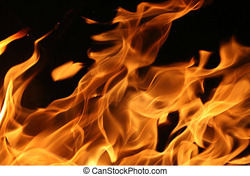Blazing fire - Hot blazing fire abstract background