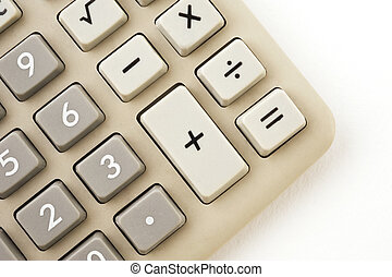 Electronic calculator isolated on white - Electronic...