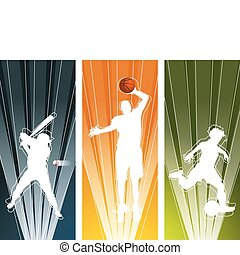 Sport player silhouette banners