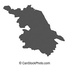 Map of Jiangsu - China
