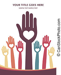 Loving hands design - Loving hands design with copy space