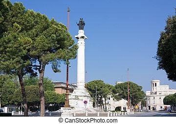 Forl? city - piazzale della vittoria, gate of forli city