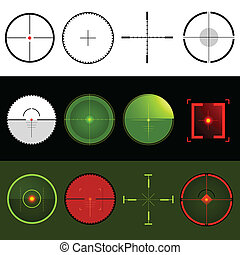 Vector Target Crosshairs. Vector illustration