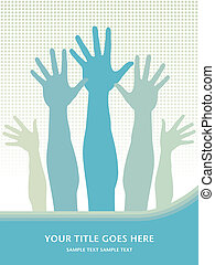 Hands in the air design.