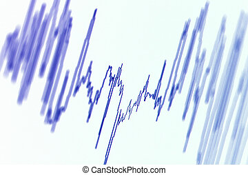 Wave diagram - Audio, seismic or stock market wave diagram...