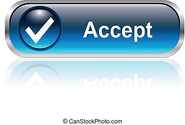 accept icon, button - Accept, check symbol icon, button,...