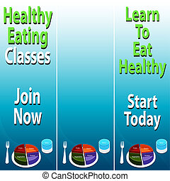 Healthy Eating Banners - An image of healthy eating banners...