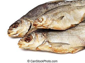 Peixes, três, secado