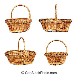 Wintage willow basket for fruits