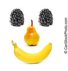 Smiling fruits - Fruits set as a smiling face
