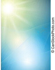 Abstract background vector sun.