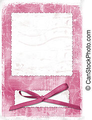 Pink card for greeting in style retro