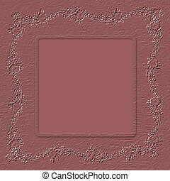 Grunge paper in scrapbooking style with floral ornament